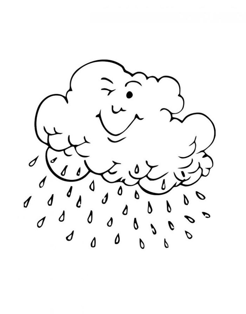 Раскраска дождь скачать и распечатать