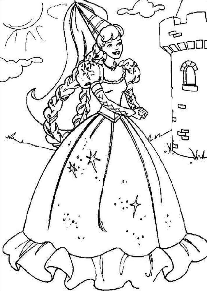 Королева раскраска распечатать