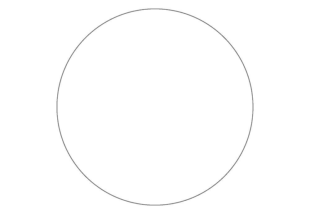 Раскраска круг скачать и распечатать