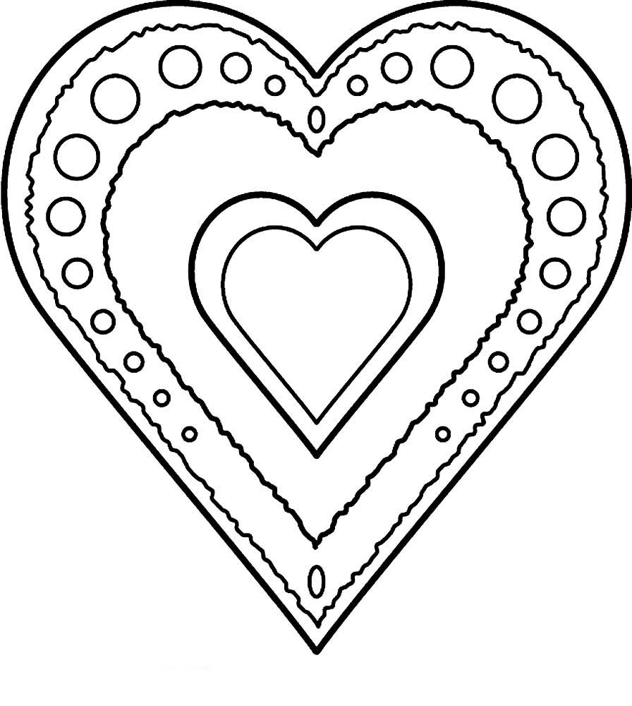 Распечатки открытки сердечки, для надписи