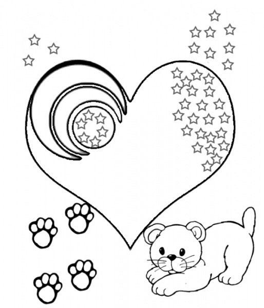 Раскраски сердце распечатать - 1