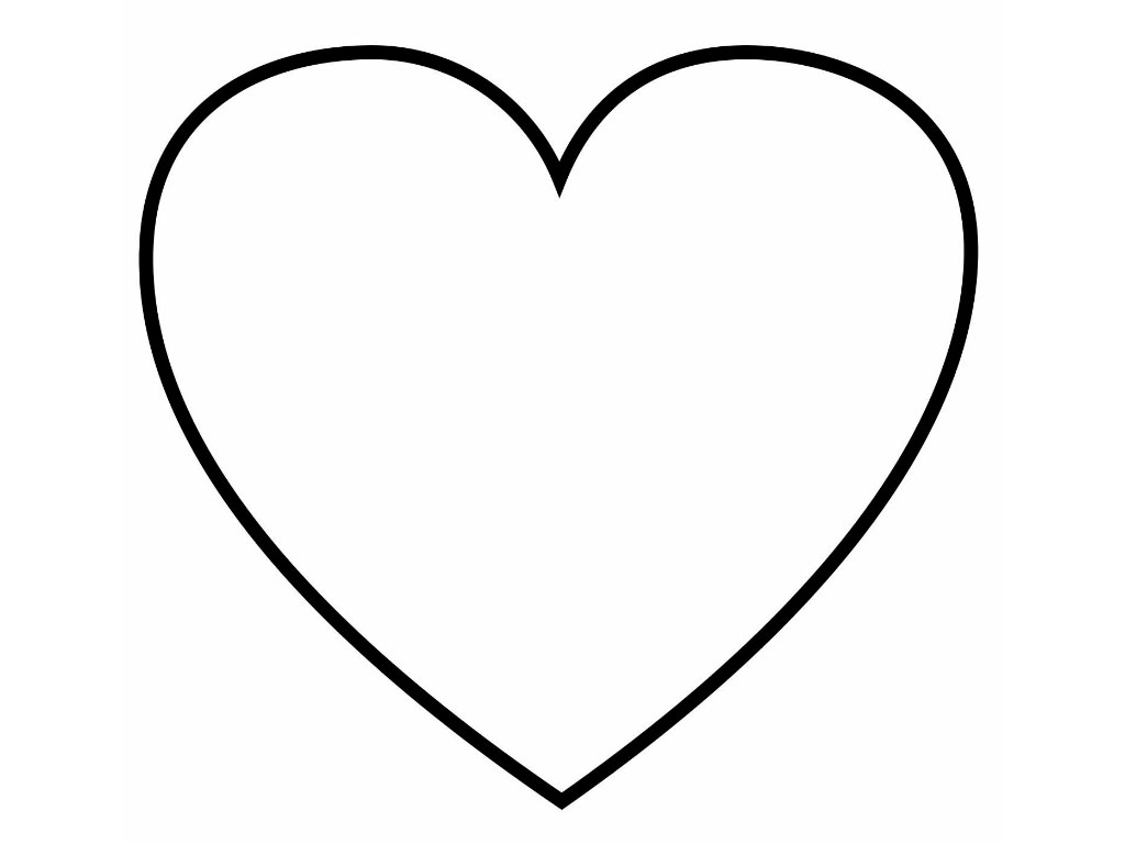 Раскраска сердечка для детей
