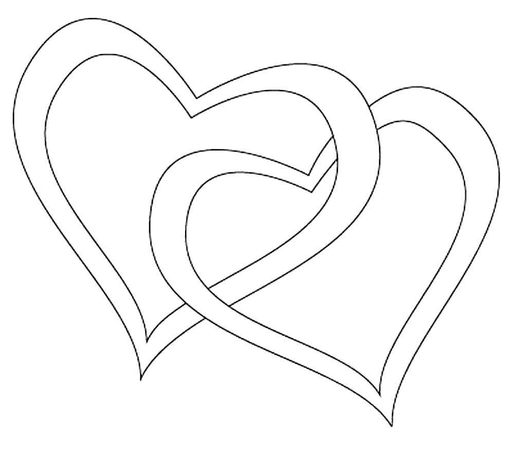 Картинки два сердца вместе карандашом