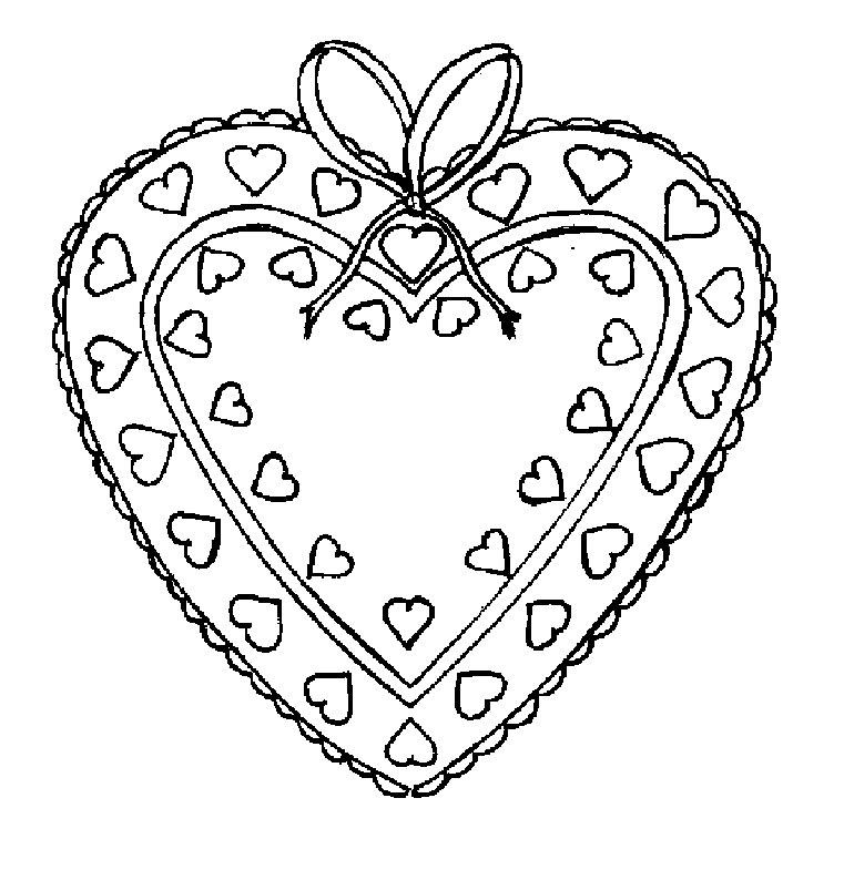 Валентинки рисунки раскраски
