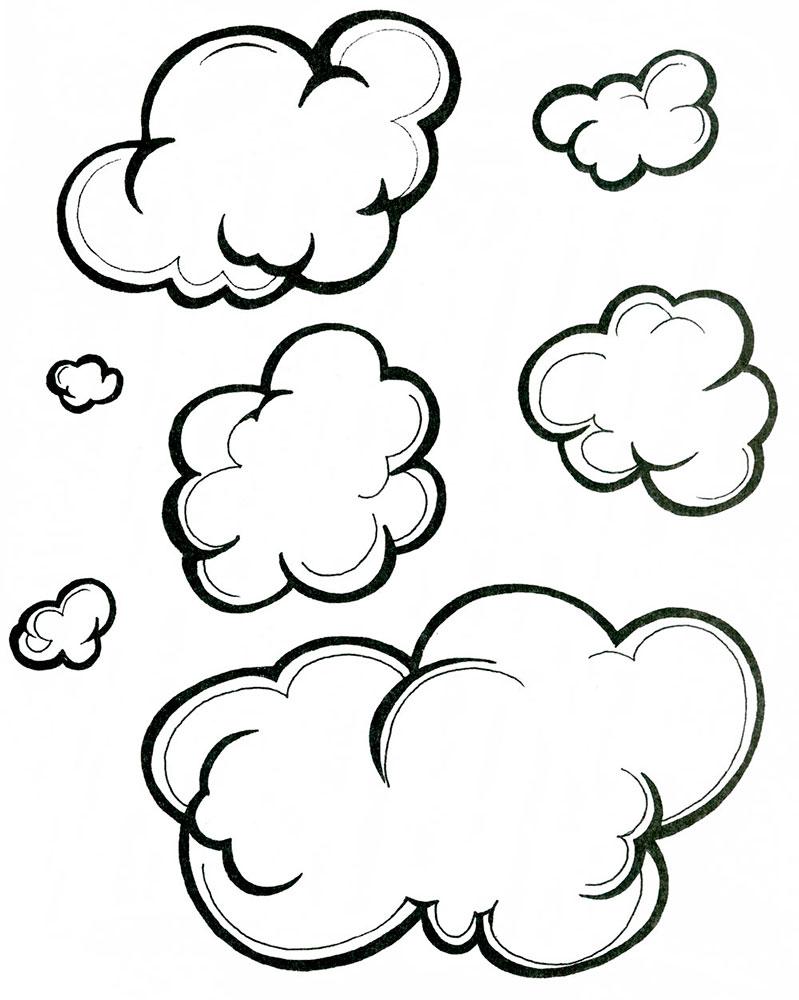 Классному, облако картинки раскраски
