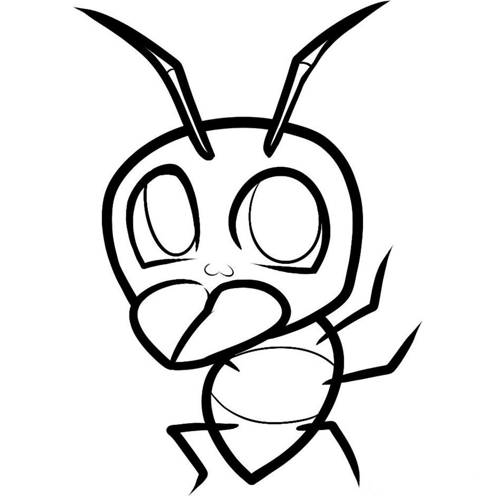 Раскраска муравей скачать и распечатать