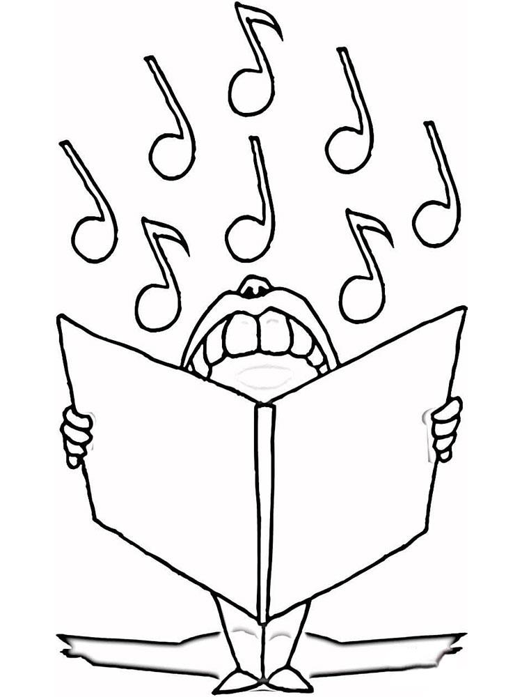 Раскраска ноты | Детские раскраски, распечатать, скачать