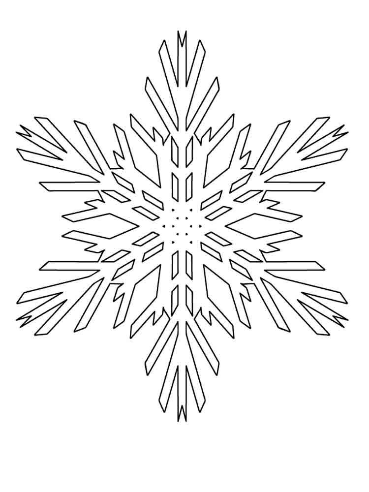картинка снежинки раскраски