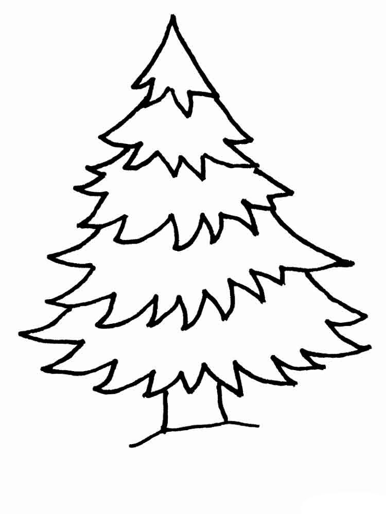 Картинки новогодней елки для срисовки, зимним днем