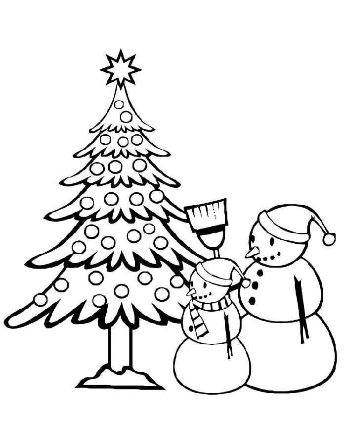 Раскраска новогодняя елка скачать и распечатать