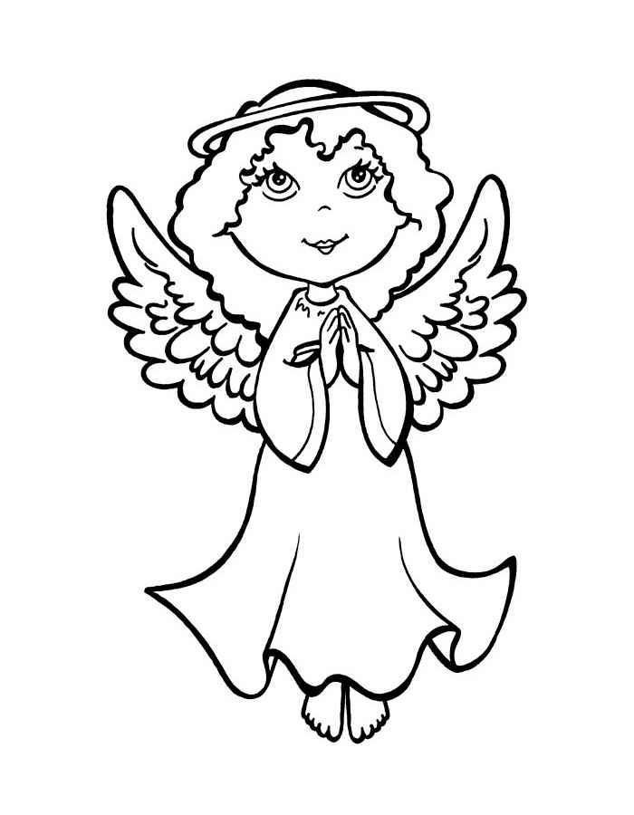 Скачать и распечатать раскраски ангелы