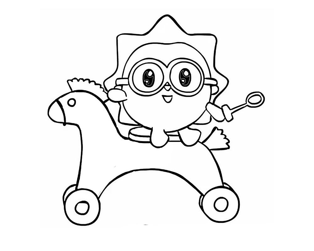 Раскраска героев мультфильма Малышарики скачать и распечатать