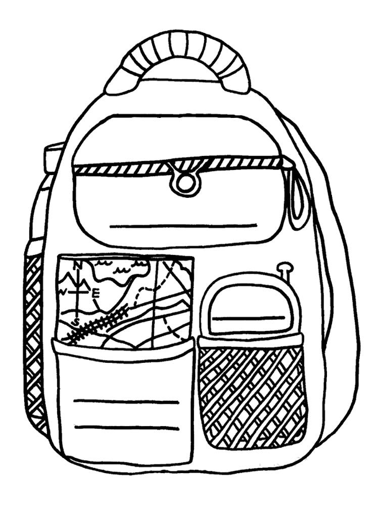 Картинка рюкзака для детей раскраска