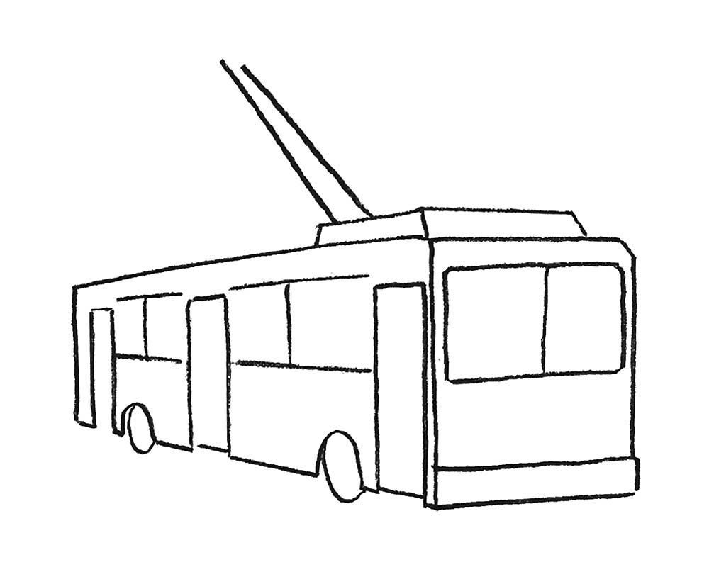 контурная картинка трамвая стало понятно