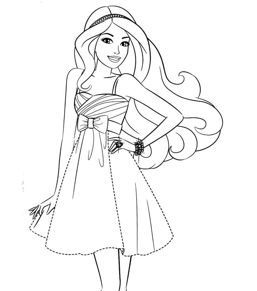 Скачать и распечатать раскраски Барби модница