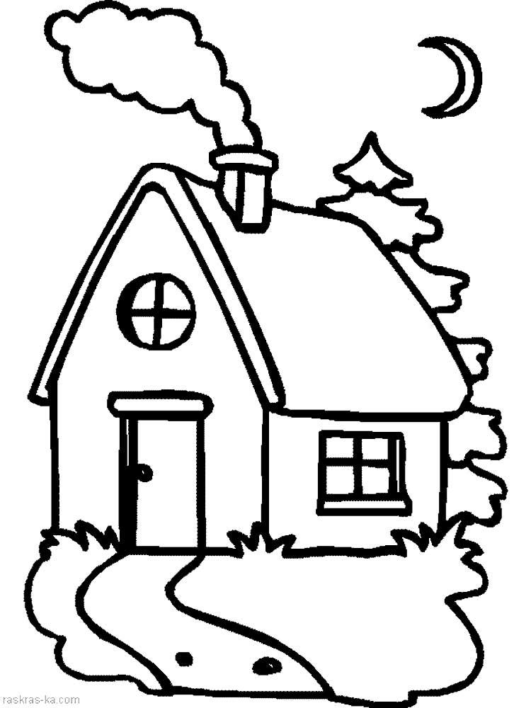 Черно белые картинки с домиками