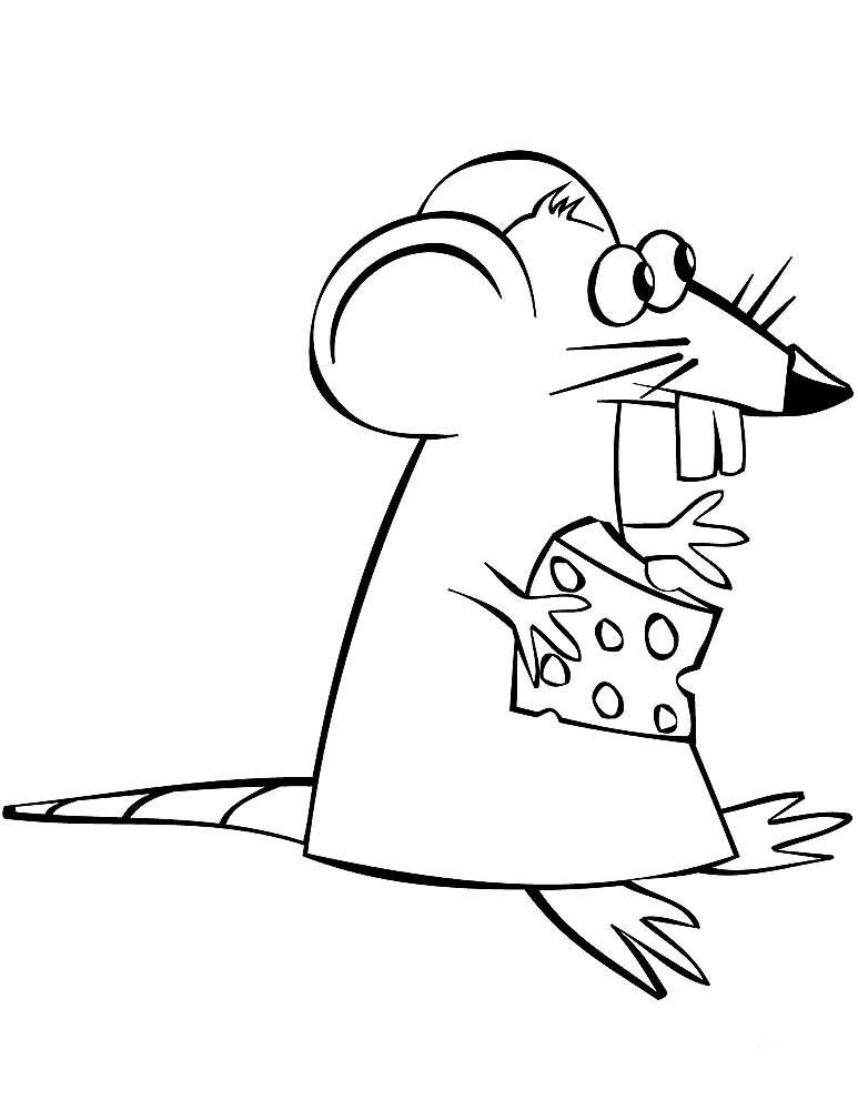 Крыса с сыром картинка карандашом