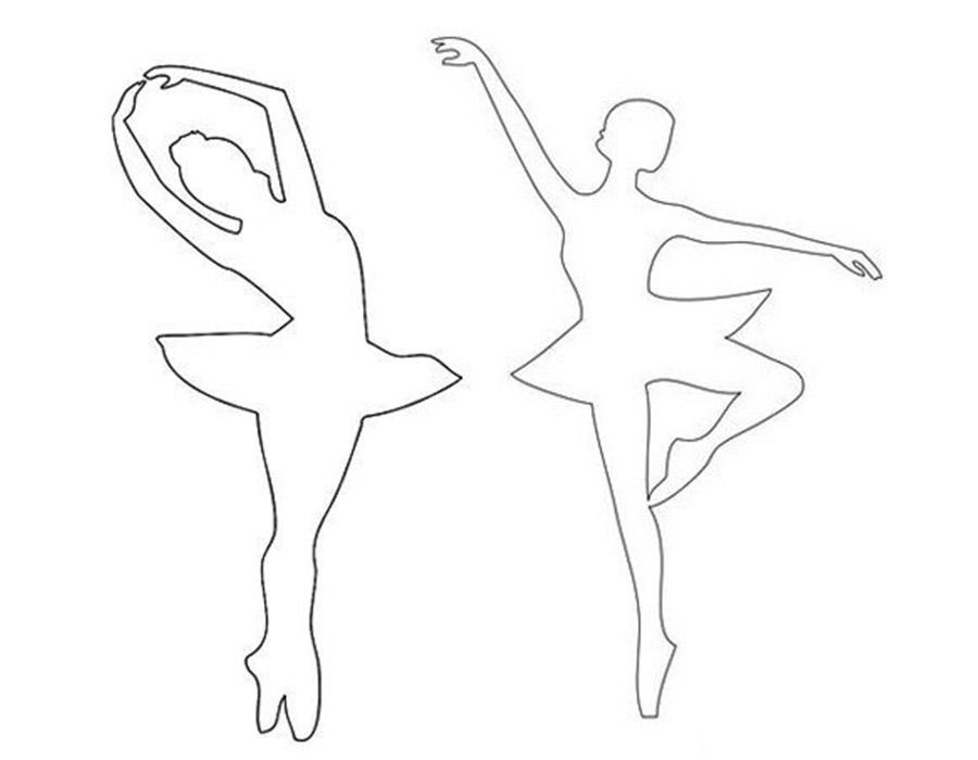 Балерина рисунок как трафарет