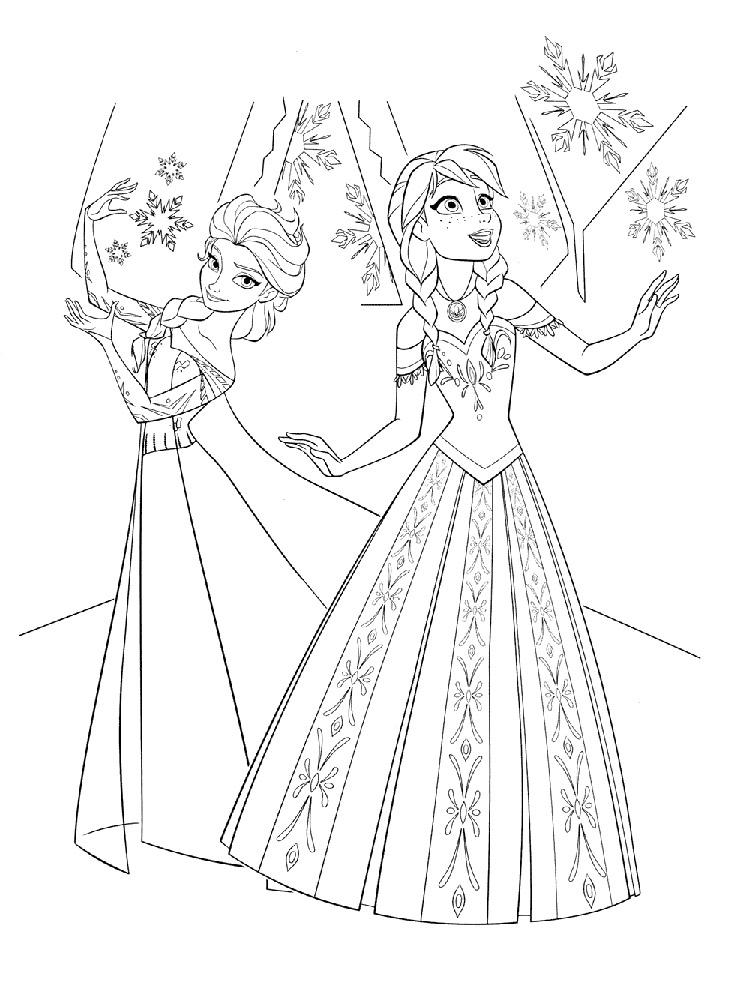 Принцесса и ее друзья раскраска