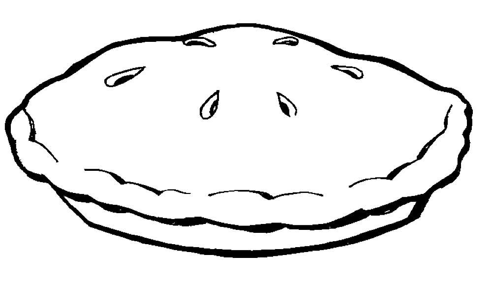 Картинки пирога для срисовки, днем рождения евгения