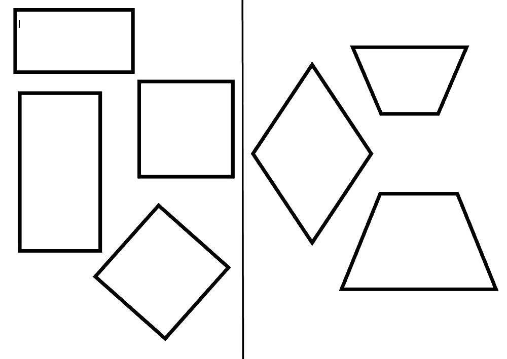 Картинка геометрические фигуры раскраска