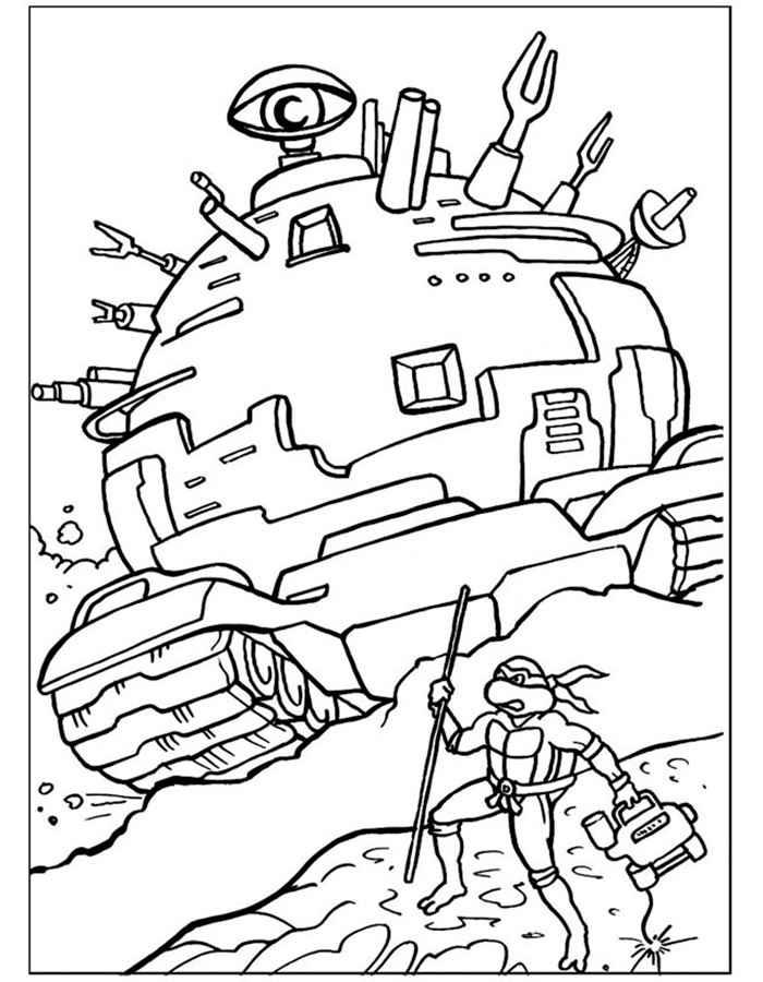Скачать и распечатать раскраски Черепашки Ниндзя