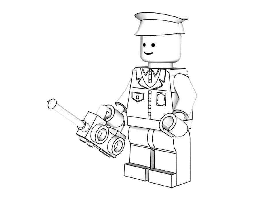 Раскраски лего для детей онлайн