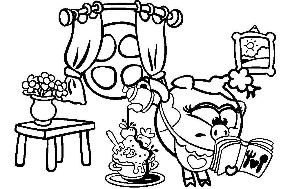 Картинки из раскраски про смешариков