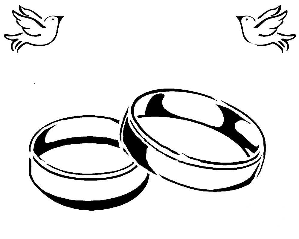 Обручальные кольца парные картинки для срисовки