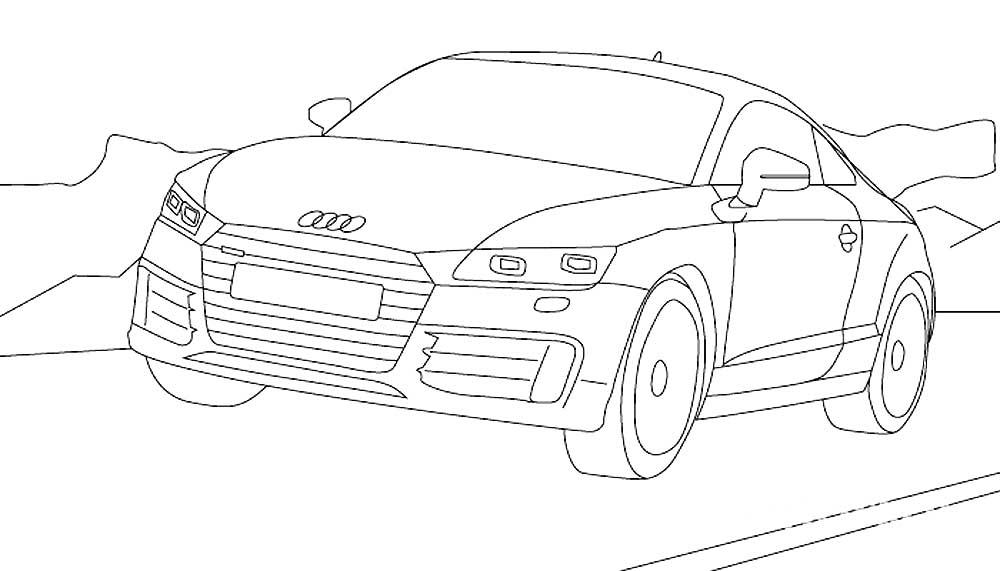 Скачать и распечатать раскраски автомобили марки Ауди