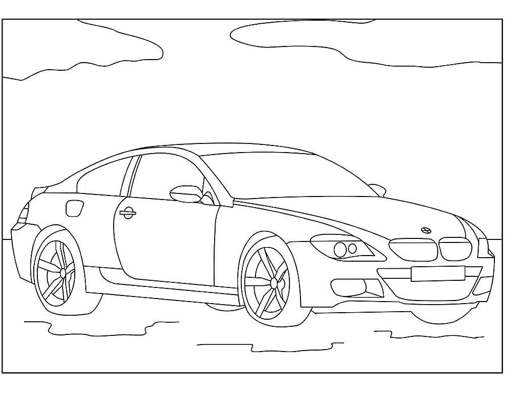 Скачать и распечатать раскраски автомобили марки БМВ