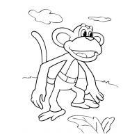 Раскраски мультфильма Крошка енот скачать и распечатать