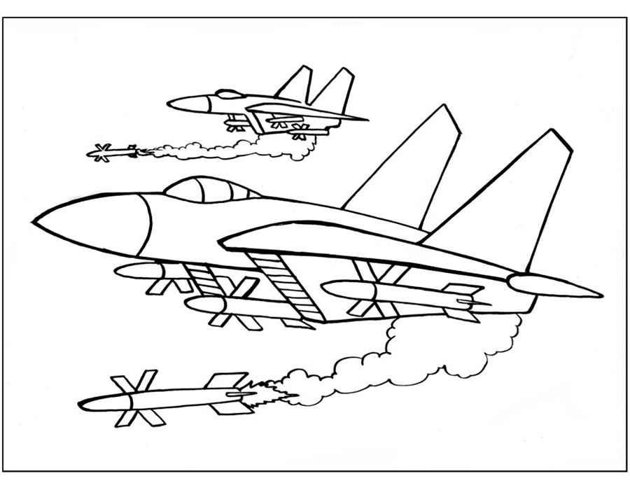 Скачать и распечатать раскраски самолёты