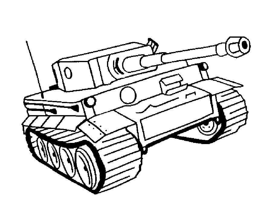 Скачать и распечатать раскраски танки