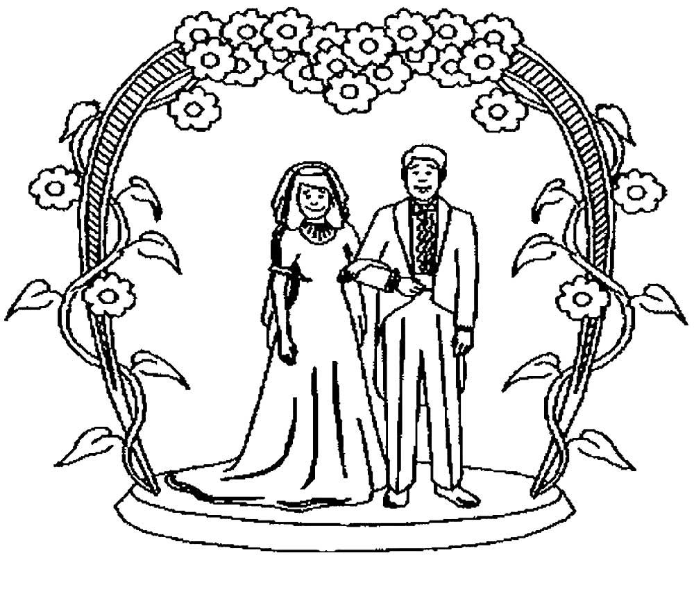 Раскраски открытки с днем свадьбы, выпускным поздравления почтовые