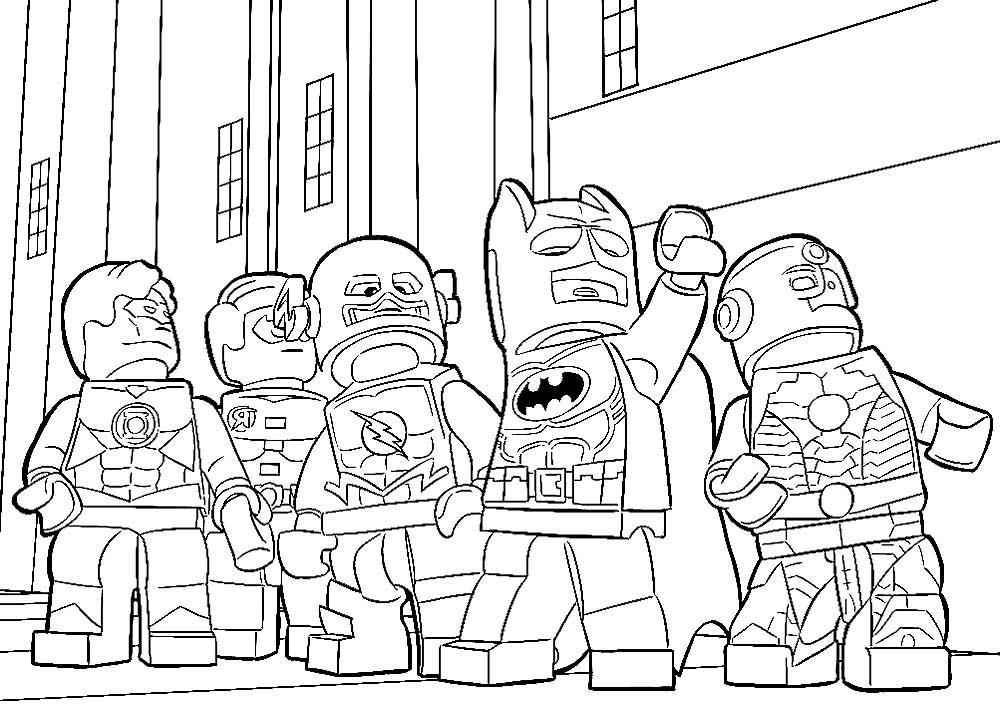 Скачать и распечатать раскраски Лего Марвел
