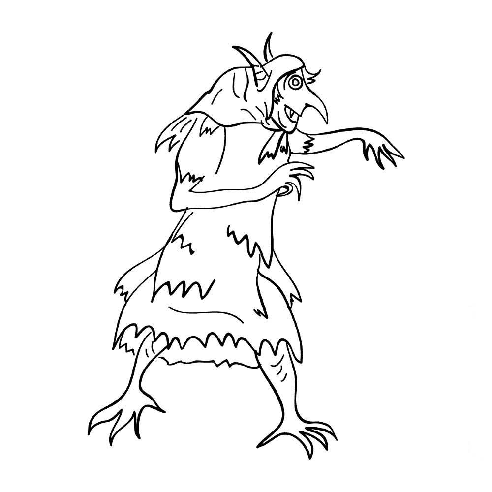 рисунок кикиморы легкий
