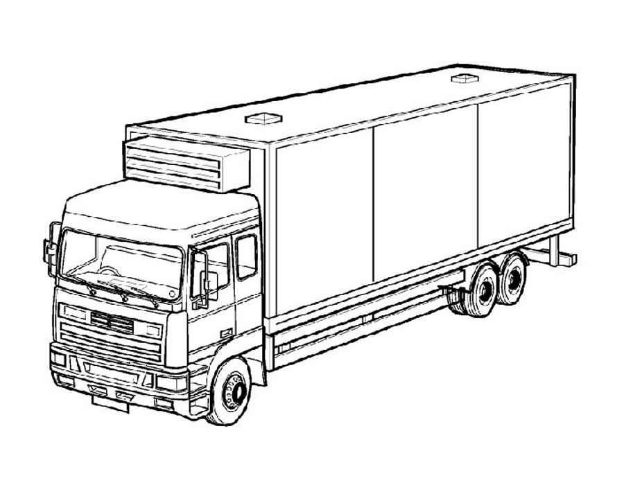 Скачать и распечатать раскраски грузовик