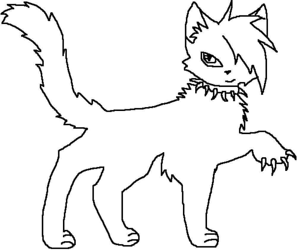 картинки раскрасок коты-воители