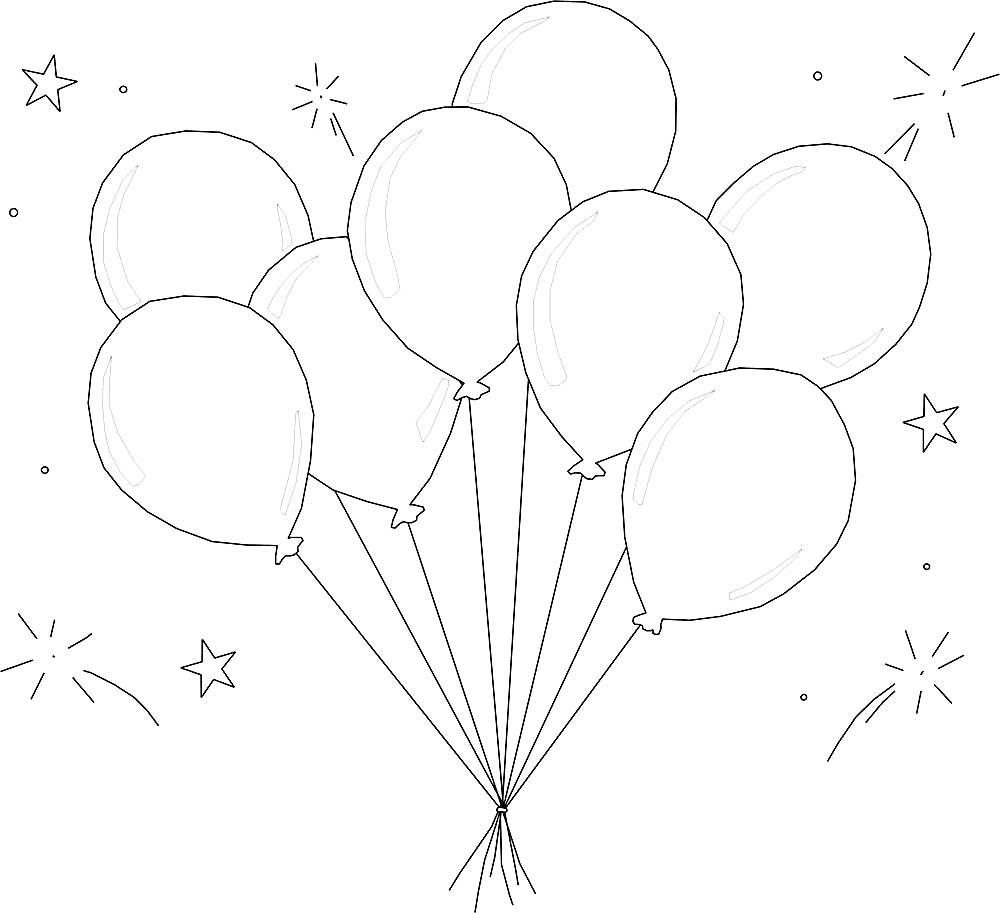 С днем рождения открытка с шариками рисовать