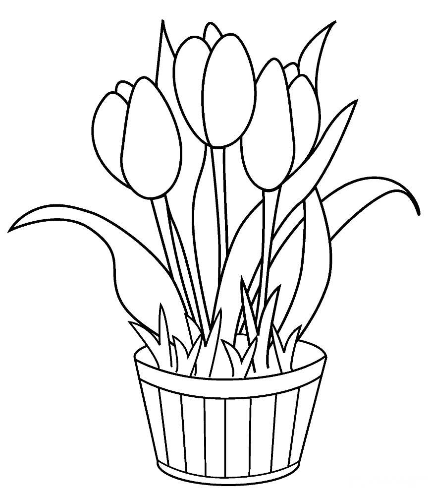 Тоскуй, рисунок цветы раскраска
