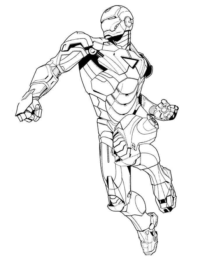 Раскраски для мальчиков железный человек - 7
