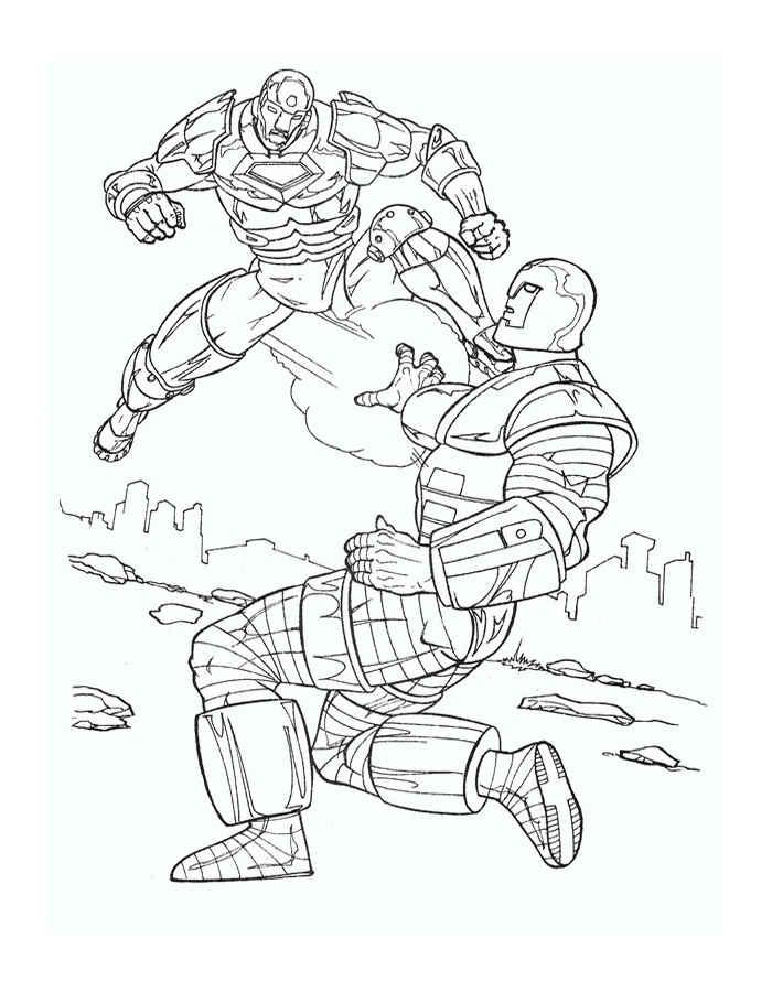 Скачать и распечатать раскраски Железный Человек