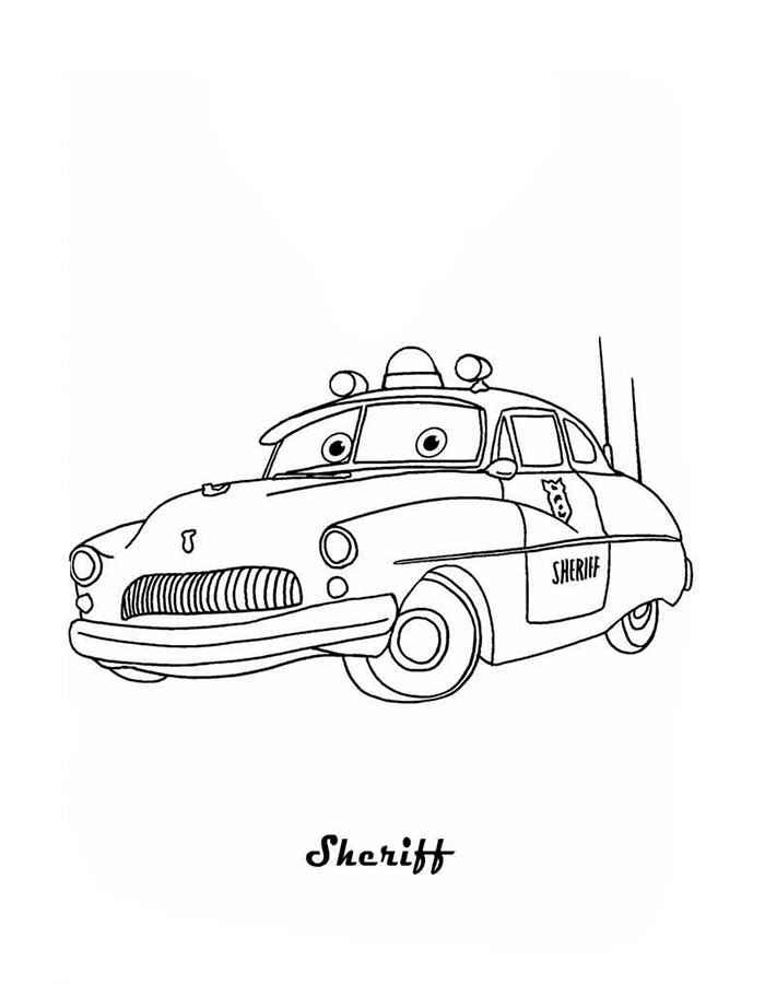 Раскраски про машины гоночные