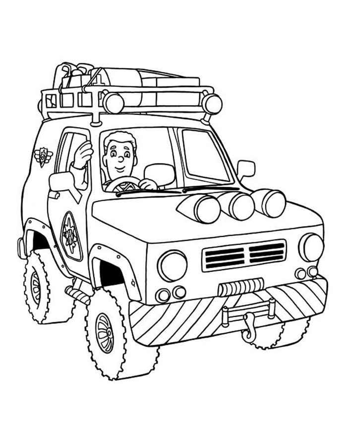 Раскраска онлайн для мальчиков машины джипы - 4