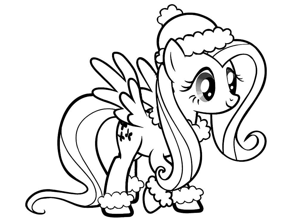 Скачать и распечатать раскраски пони Флаттершай