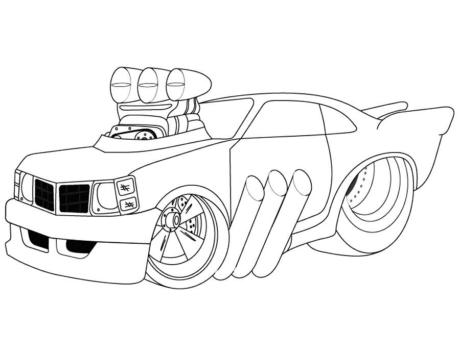 Раскраски Картинки Машины Крутые