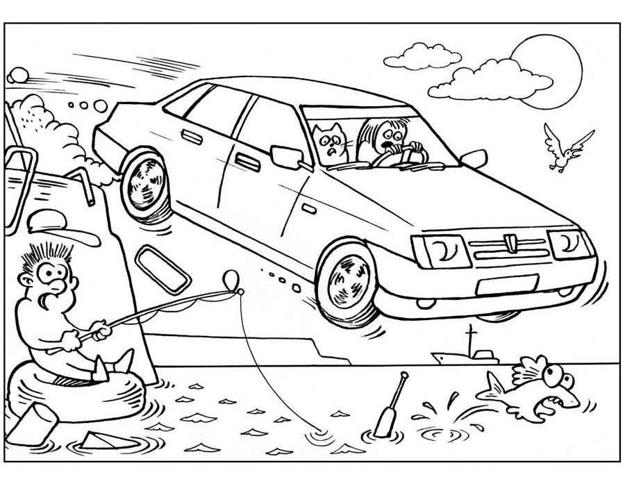 Скачать и распечатать раскраски машины