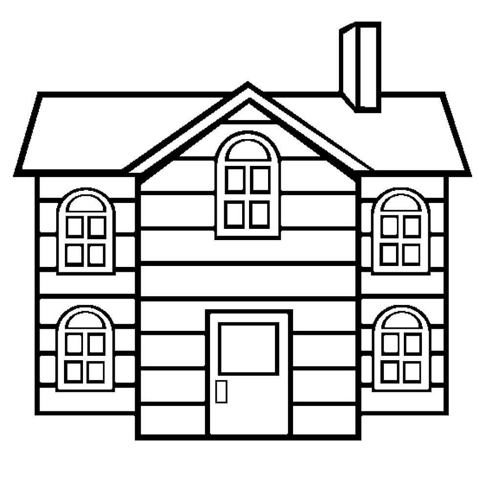 дом рисунок для раскрашивания крайней мере