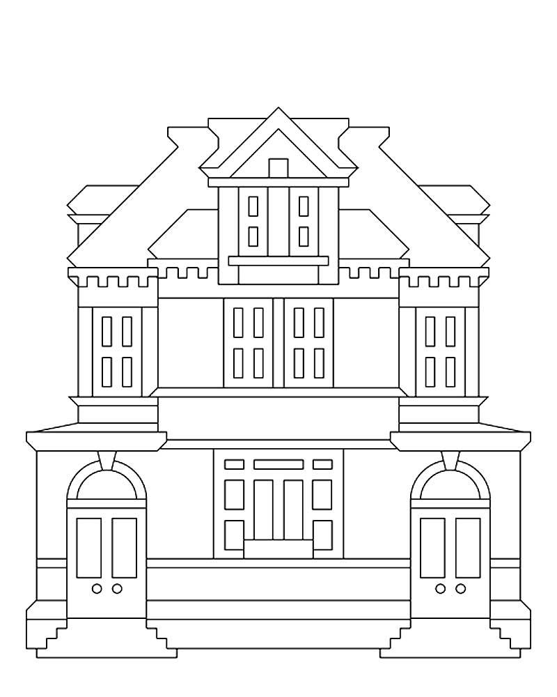 раскраска картинки зданий летучая мышь, каланг
